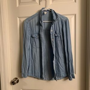 Denim long sleeve button up Size small